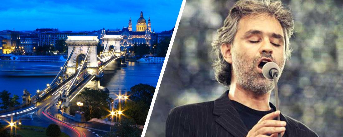 Koncert med Andrea Bocelli i Budapest
